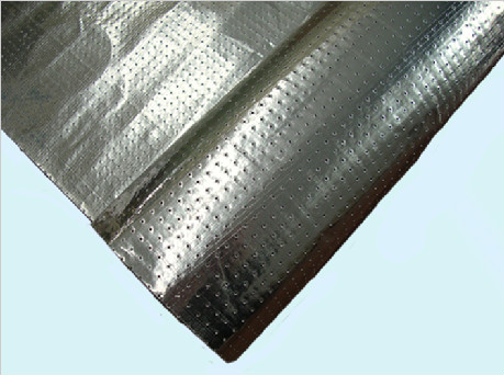Perforated Woven Fabric laminated with Aluminum Foil