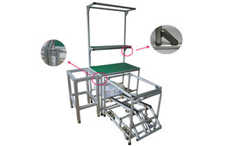 Durable Aluminum Frame Pipe Workbench Easy Disassembly Pipe Rack Workbench
