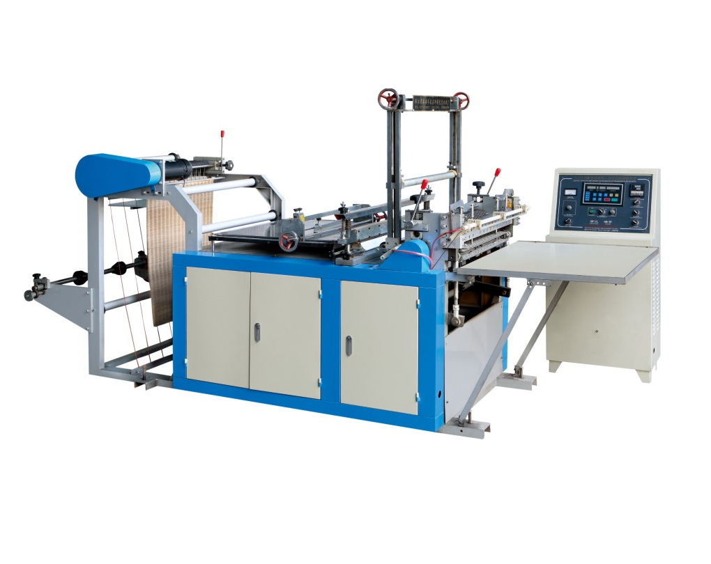 Double Lines Heating Sealing Cool Cutting Bag Making Machine