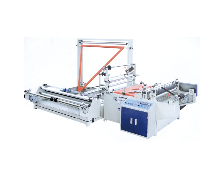 Manufacturer of carry bag making machine in India. Plastic folding machine with speed 20-100 metres/min, unwinding width 1400 mm.
