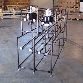 Unique custom made Flow Rack Assembly Systems Lean Manufacturing