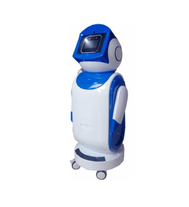 AI Temperature Checking and Attendance Robot by Lessdeal